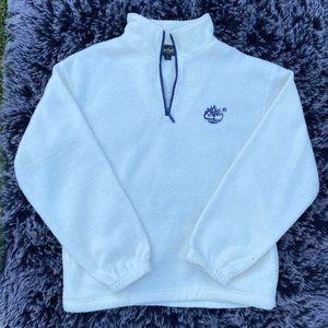 Timberland Sherpa White Half-Zip Jacket size small